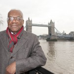 Trevor McDonald in front of Tower Bridge, London