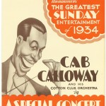 1934 Cab Calloway flyer Concert Londres