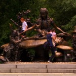 Central Park's Alice in Wonderland statue, constructed in 1959 by José de Creeft. Photo courtesy of NYC Media.