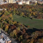 An aerial view of Brooklyn's Prospect Park. Photo courtesy of NYC Media.