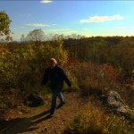 A hiker walks through the Staten Island Greenbelt. Photo courtesy of NYC Media.