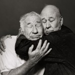 "Robert Trachtenberg:<br> ""All those pictures of Carl and Mel were from a photo session I did with them years ago."" <br><br> Pictured: Mel Brooks and Carl Reiner. Photo Credit:  Robert Trachtenberg."