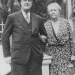 Franklin D. Roosevelt with his mother, Sara Delano Roosevelt, in Hyde Park, New York circa 1933. Photo Credit: National Archives.
