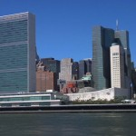 View of the United Nations from Four Freedoms Park. Photo credit: Channel Thirteen LLC.