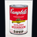This lot consists of a print of Warhol's iconic soup cans, a signed cover of Interview magazine, as well as three actual signed cans of soup. The owner bought everything from Andy himself for $125. Value: $27,000-$36,500