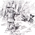 "Clifford Berryman, of the Washington Post, particularly loved drawing Roosevelt. It was Berryman's cartoon of the president refusing to shoot a sickly bear during a hunting trip that popularized the term ""Teddy Bear,"" and subsequently gave rise to the stuffed animal of the same name."