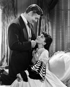 Clark Gable and Vivien Leigh as Rhett and Scarlett