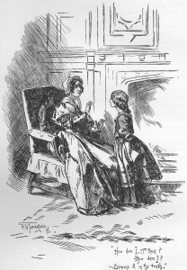 More details Young Jane argues with her guardian Mrs. Reed of Gateshead, illustrated by F. H. Townsend