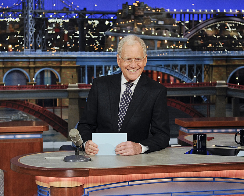 Late Show host David Letterman on the Late Show with David Letterman, Friday May 15, 2015 on the CBS Television Network. Photo: Jeffrey R. Staab/CBS ©2015 CBS Broadcasting Inc. All Rights Reserved