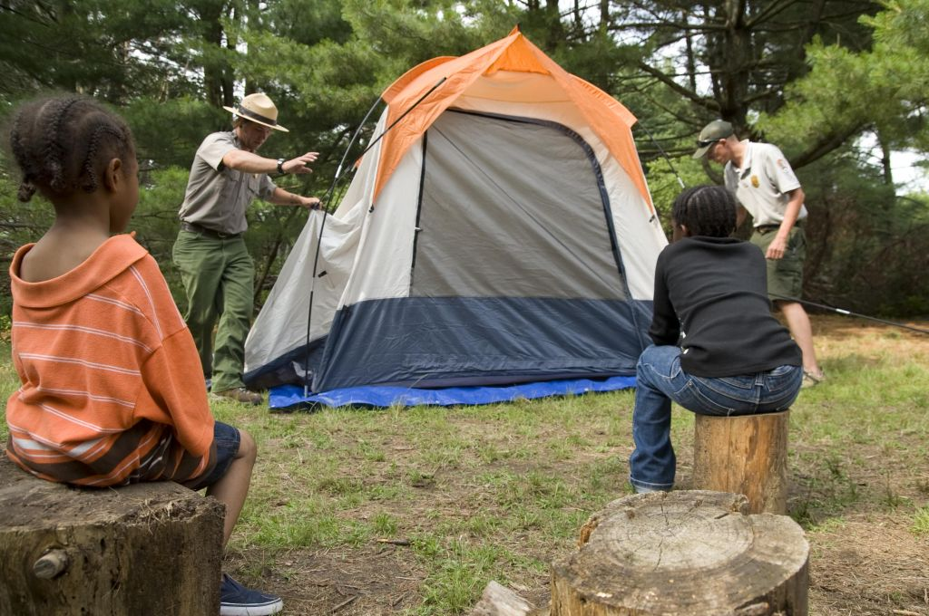 Learn how to camp outdoors with National Park Service rangers of Gateway National Recreation Area this summer. Courtesy NPS.