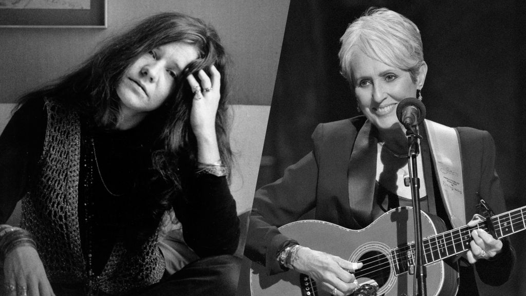 Janis Joplin and Joan Baez