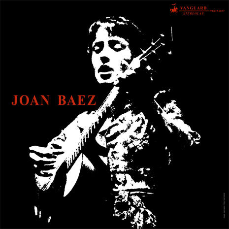 Cover of Joan Baez's debut album (1960) on Vanguard label.