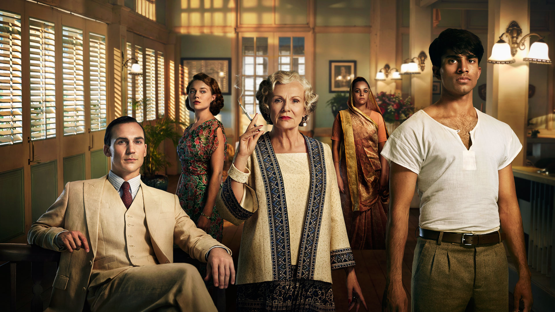 Some of the cast of Masterpiece: Indian Summers, Season 2.