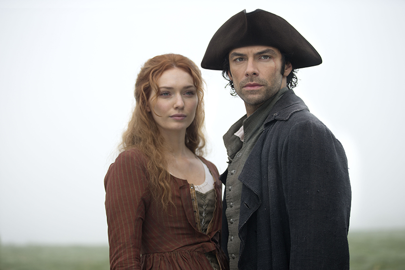 Poldark, Season 2 MASTERPIECE on PBS Episode Two | Sunday, October 2nd at 9pm ET on PBS | George tries plan B against Ross. Jud pays a steep price for treachery. Francis has a meeting of minds with his cousin. Demelza breaks difficult news. Shown: Eleanor Tomlinson as Demelza and Aidan Turner as Ross Poldark (C) Adrian Rogers/Mammoth Screen for BBC and MASTERPIECE