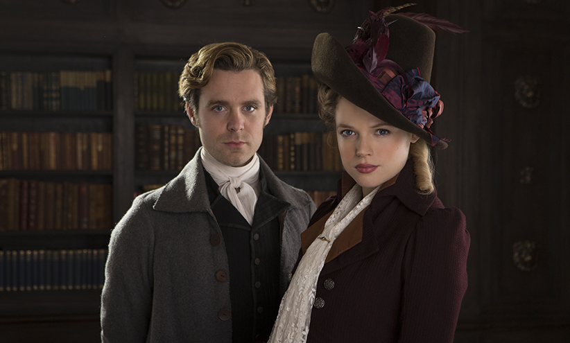 Poldark, Season 2 MASTERPIECE on PBS Episode Five Sunday, October 30th at 9pm ET on PBS Ross does Elizabeth a favor. A mysterious benefactor reciprocates. The search is on for Mark, who knows where secret riches lie. George starts plan C against Ross. Shown from left to right: Luke Norris as Dwight Enys and Gabriella Wilde as Caroline Penvenen Courtesy of Mammoth Screen/BBC and MASTERPIECE