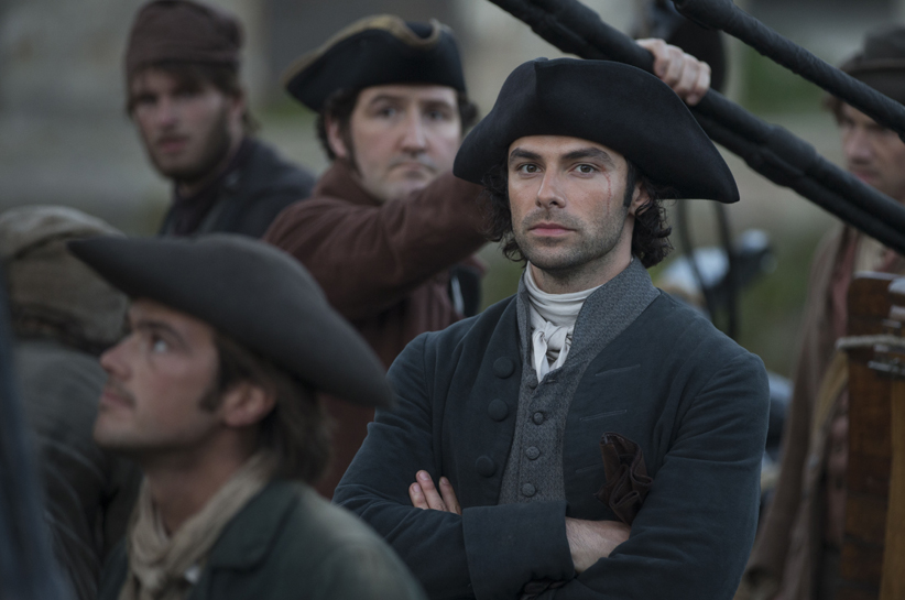 Poldark, Season 2 MASTERPIECE on PBS Episode Six Sunday, November 6th at 9pm ET on PBS A fugitive points the way to riches. Ross and the free traders sail into a trap. Caroline and Dwight hatch a plan. Demelza faces house arrest. Shown: Aidan Turner as Ross Poldark Courtesy of Mammoth Screen/BBC and MASTERPIECE