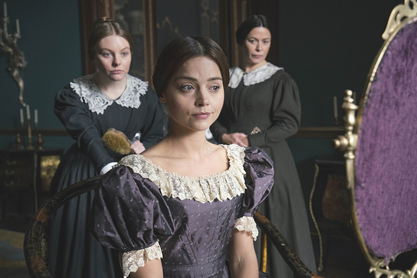 """Victoria On MASTERPIECE on PBS *SPECIAL TWO-HOUR PREMIERE* SUNDAY, JANUARY 15, 2017 AT 9PM ET Continues Sundays, January 22 – February 19, 2017 at 9pm ET Season Finale on Sunday, March 5 at 9pm ET Episode One – """"Doll 123"""" Sunday, January 15 at 9pm ET As a new queen, the young Victoria struggles to take charge amid plots to manipulate her. Victoria's friendship with the prime minister leads to a crisis in Parliament. Shown from left to right: NELL HUDSON (Skerrett), EVE MYLES (Mrs Jenkins) and JENNA COLEMAN as Victoria (C) ITV Plc"""
