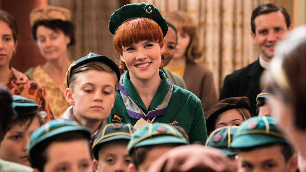 "Emerald Fennell as Patsy Mount (the ""bartender"") in Call the Midwife."