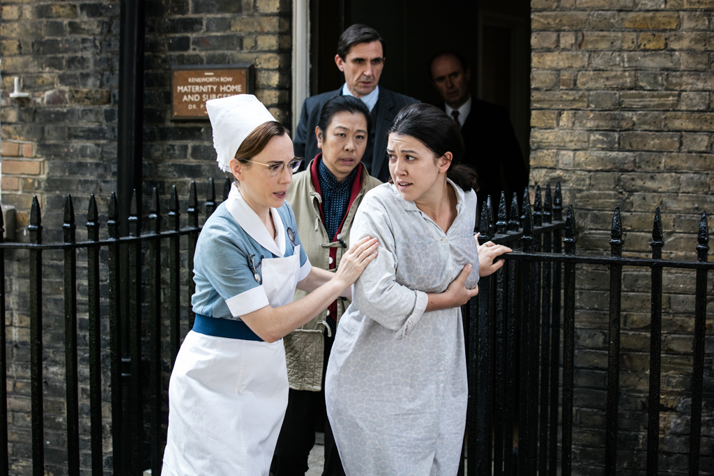 Stephen McGann as Dr Patrick Turner, Lucy Sheen as Oilen Chen, Laura Main as Shelagh Turner, Alice Connor as Lucy Chen