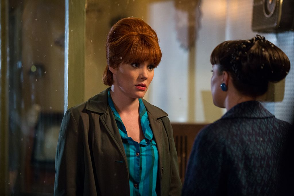 Emerald Fennell as Patsy Mount, Kata Lamb as Delia Busby