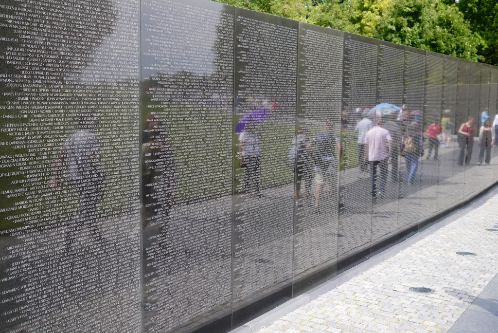 The Vietnam Veterans Memorial in Washington, DC.