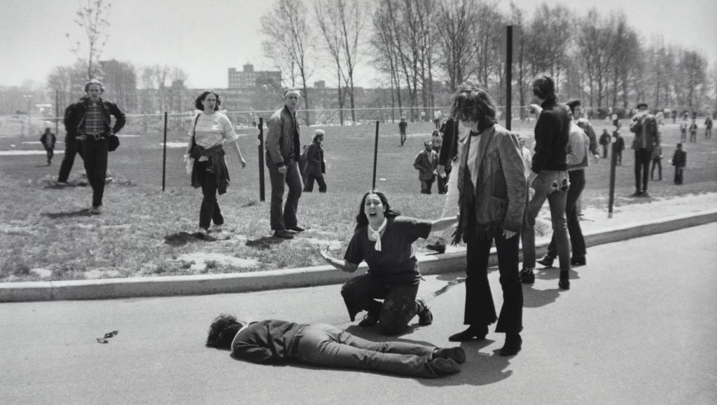 demonstration at Kent State University. Ohio, May 4, 1970.