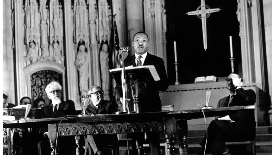 Martin Luther King, Jr., giving his speech Beyond Vietnam: A Time to