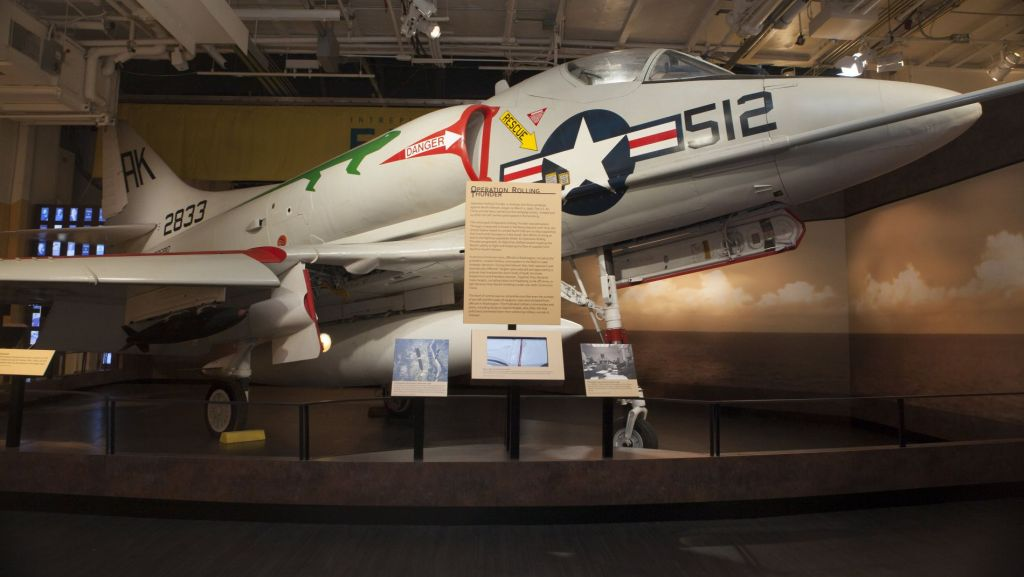 A-4 Skyhawk on display at the Intrepid Sea, Air & Space Museum
