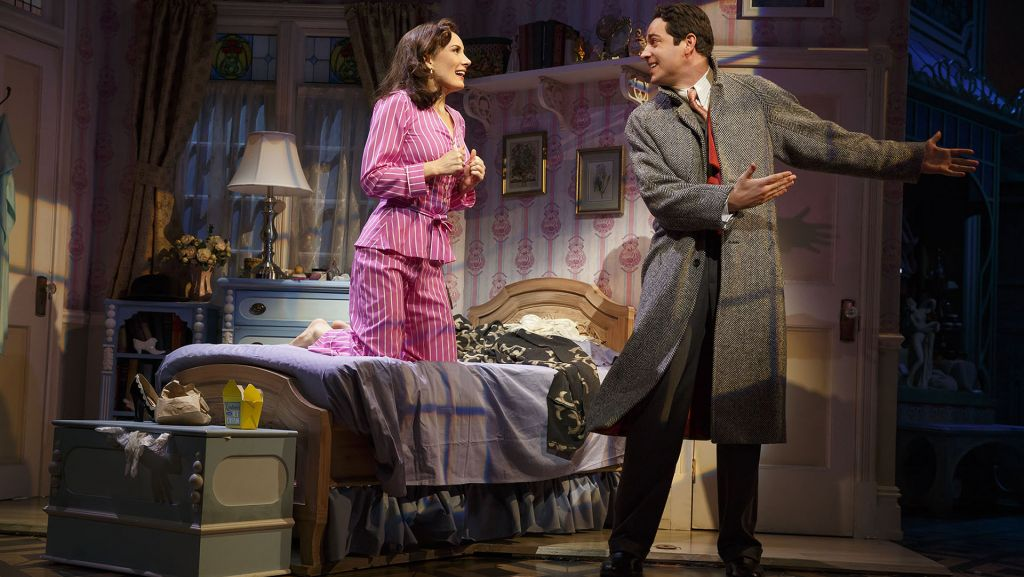 "Laura Benanti and Zachary Levi in ""She Loves Me."" Credit: Joan Marcus, 2016"