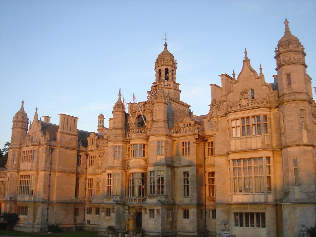 Harlaxton Manor, view from side gardens