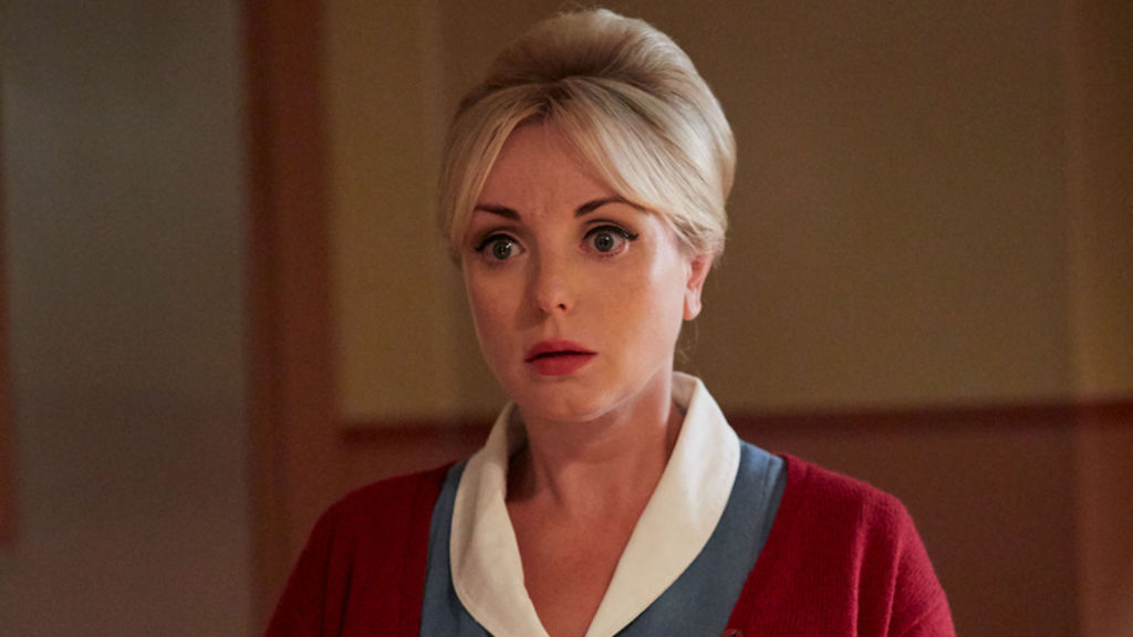 Nurse Trixie Franklin (HELEN GEORGE) is facing a personal problem in Call the Midwife, Season 7, Episode 4.  Photo: Laura Radford