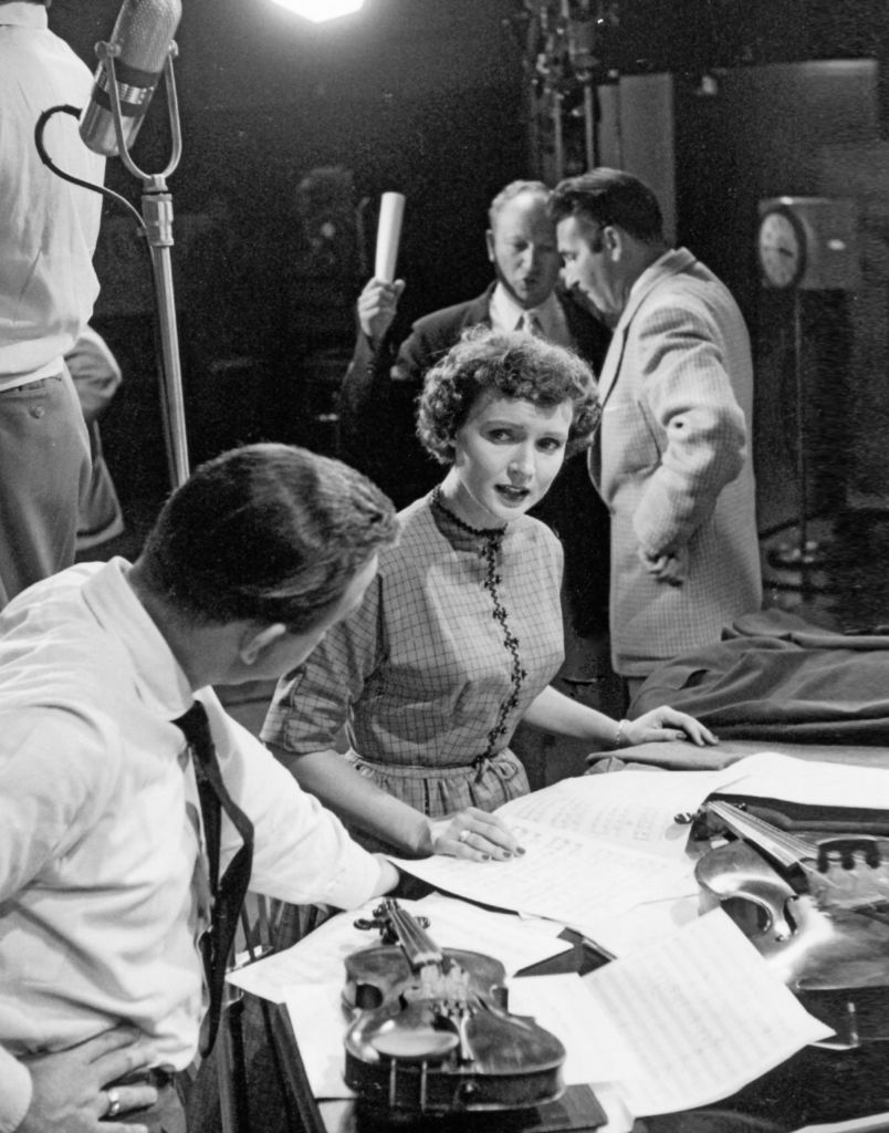 "Betty White at work as the first woman in Hollywood with creative control of a sitcom--on the set of ""Life with Elizabeth."" Courtesy of Pioneers of Television Archives"