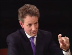 Geithner talks about the size of the budget