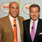 Brian Williams and Mayor Cory Booker
