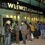 Visitors line up outside the Tisch WNET Studios