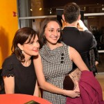 Elizabeth McGovern poses for a photo with a fan. (Joseph Sinnott/WNET)