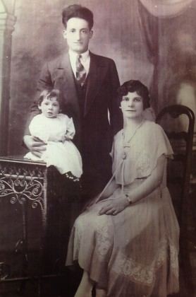 My Grandparents Rosalia Maria Morreale and Pellegrino with my Aunt Sara as a Child