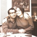 The author's parents — Yona Sabar and Stephanie Kruger — on Thanksgiving 1966, in Stephanie's parents' apartment in Greenwich Village. Yona had picked up Stephanie in nearby Washington Square Park a few weeks earlier. They were married in January 1967.