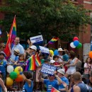 Last Sunday's Gay Pride Parade revelers. Flickr.