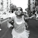 """Popping,"" 2009, gelatin silver print 16x20Crown Street and Bedford Ave Brooklyn Block PartyPhoto by Anderson Zaca."