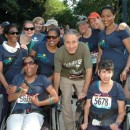 Daily Show host Jon Stewart with the United Cerebral Palsy of New York City team at the Achilles Hope & Possibility Race on Jun. 26. Photo Courtesy of Lois Silver