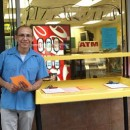 Hector Canonge is offering English classes to local residents at the Magic Touch Laundromat in Inwood as part of a public art project. Photo courtesy of Voices that Must Be Heard.
