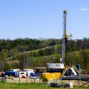 Fracking in Burlington, PA. While fracking has generated significant wealth for the state, opponents wage that it's had a devastating impact on the environment and is not a financially sustainable industry. AP/Ralph Wilson.