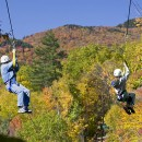 Ziplining at Hunter Mountain  last fall! October is the peak time for fall foilage. Photo courtesy of offmanhattan