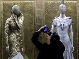 A retrospective of the work of fashion designer Alexander McQueen was at the Metropolitan Museum of Art in New York. Photo: AP Photo/Bebeto Matthews