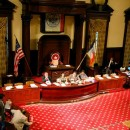 Council chambers at City Hall. City Council caucuses will be pushing their priority issues in the coming months for the 2011-2012 legislative year. Flickr/ambersandyslexyia