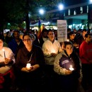 A crowd held a candelight vigil for Rutgers University freshman Tyler Clementi on Oct. 3, 2011. Clementi's death played a considerable role in the discourse about bullying over the past year. AP/Reen Rose Sibayan.