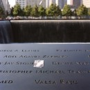 Names of victims etched into the parapets of the reflecting pools. Flickr/Phillip Kalantzis Cope