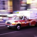 Ambulance in Times Square. Every time someone is killed or dying with a viable organ, time is of the essence to get the organ to a waiting transplant recipient. Flickr/Alex Minkin.