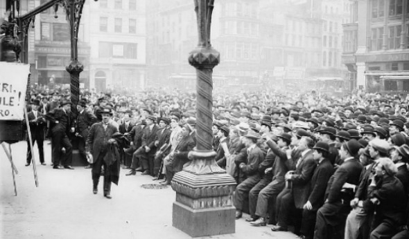 Barbers rally in Union Square on May 24, 1913. Photo courtesy of the ...